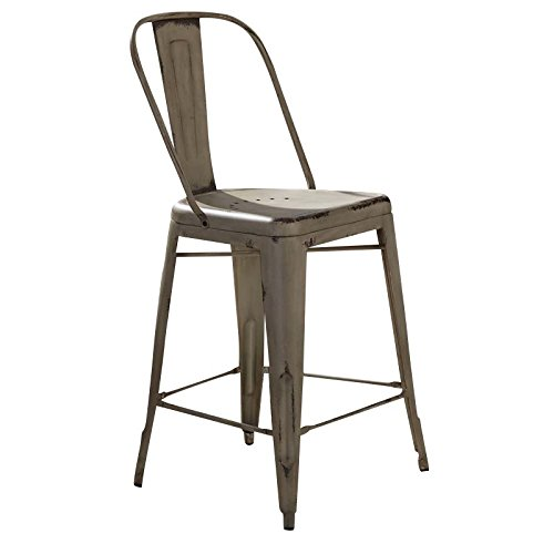 Liberty Furniture 179-B350524-W Vintage Dining Series Bow Back Counter Chair White -