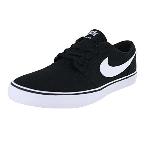 NIKE MENS NIKE SB PORTMORE II SOLAR CNVS BLACK WHITE SIZE 8.5 (Nike Shoes Sticky)