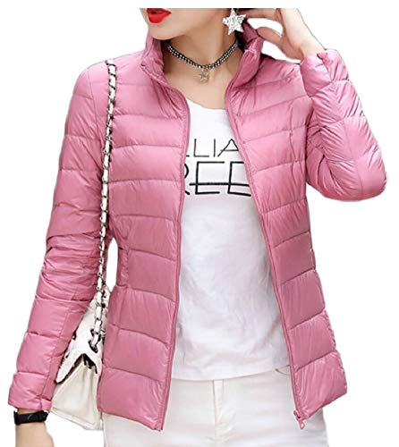 security Lightweight Pink Jackets Down Women's Puffer Packable Coats Casual rTtFxrwRq1