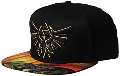 BIOWORLD The Legend of Zelda Ocarina of Time Sublimated Bill Snapback Hat from JBK International