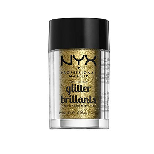NYX PROFESSIONAL MAKEUP Face & Body Glitter, Gold, 0.08 -