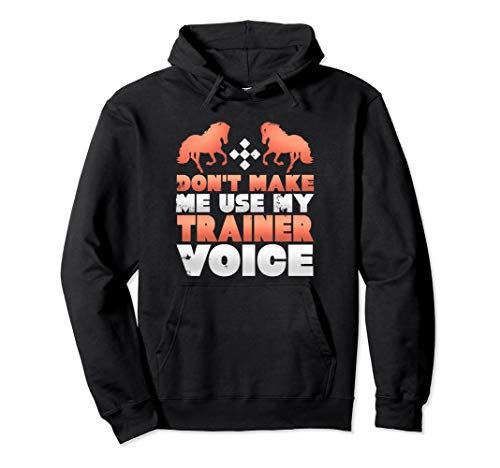 Don't Make Me Use My Horse Trainer Voice Gifts Hoodie (Best Horse Trainer Gifts)