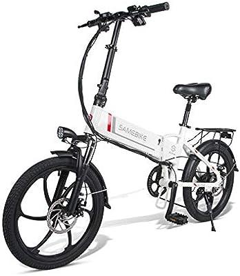 ZZQ Bicicleta eléctrica 48V 350W 7 velocidades Pedales de ...