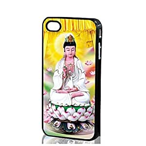 TOPMM 3D Guanyin pattern Hard Case for iPhone 4/4S , Matt black