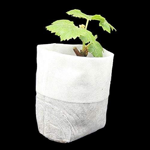 400ピース4サイズ生分解性不織布保育園バッグ植物成長バッグ生地苗ポット植物ポーチホームガーデン供給