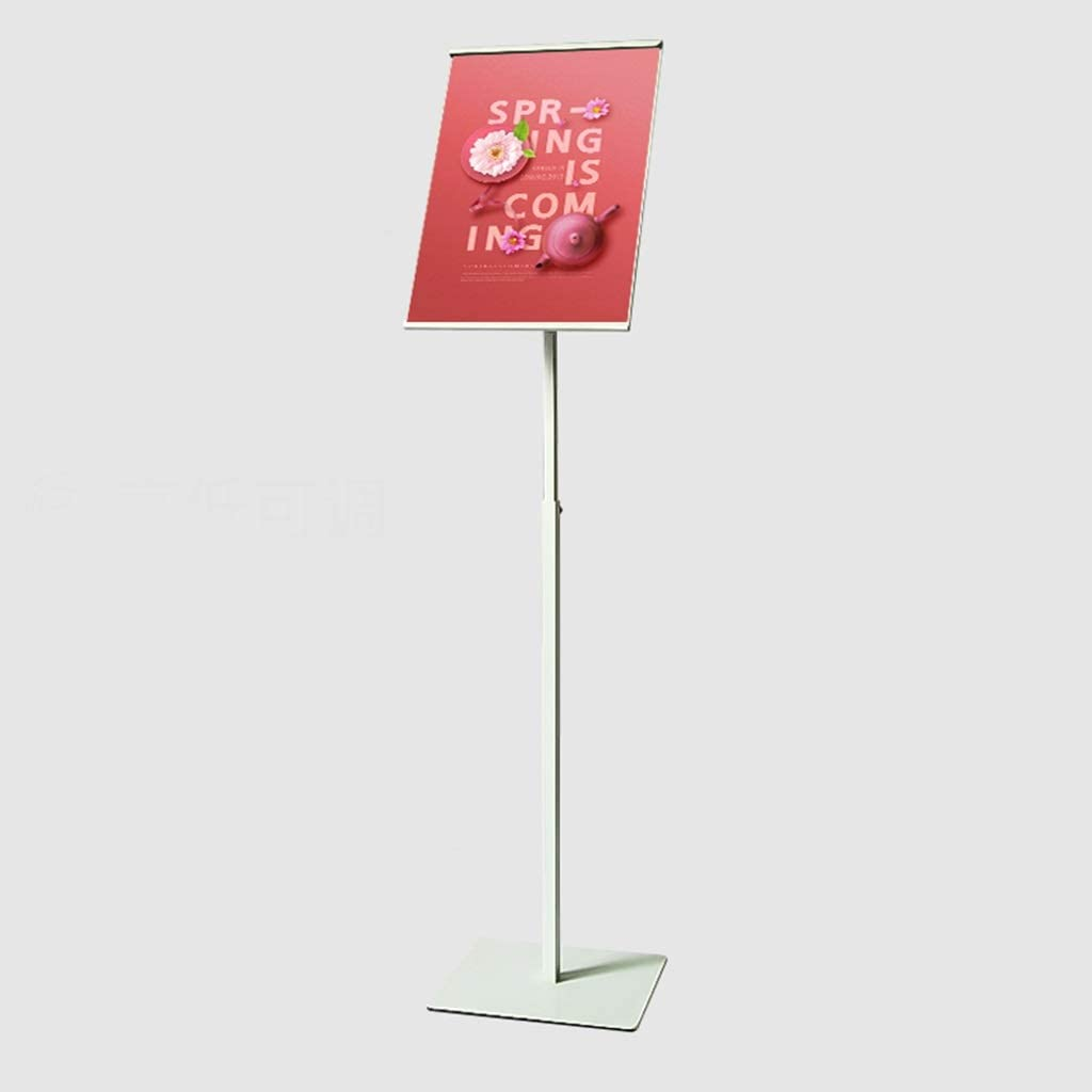 Color : White A4 Poster Stand Standing Floor Sign Stand Both Vertical /& Horizontal View Displayed Snap Open Frame for School Church Business Show Wedding Party Menus ZHFHA Sign Holder