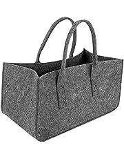 Shopping basket Dark Gray Bag Firewood Storage Bag Newspaper Rack Newspaper Basket Large Capacity Felt Handbag Shopping Tote Storage Bags Shopping basket with handle
