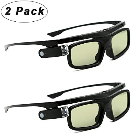 [해외]3D Glasses Active Shutter Rechargeable Eyewear for 3D DLP-Link Projectors Cocar Toumei - Pack of 2 / 3D Glasses Active Shutter Rechargeable Eyewear for 3D DLP-Link Projectors Cocar Toumei - Pack of 2