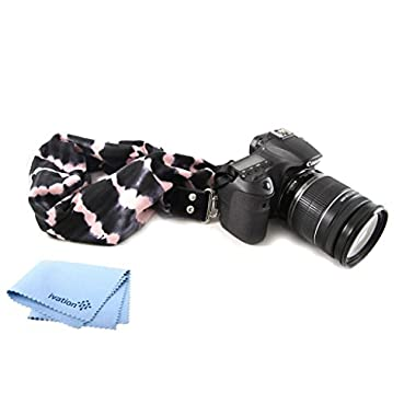 Capturing Couture Tie-Die Pink Scarf Camera Strap and a Bonus Ivation Spot Cleaning Cloth