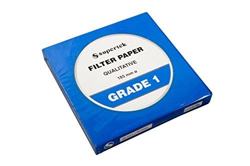 Filter Paper, Qualitative, Grade 1, 185 mm Pack of 100 sheets by Supertek