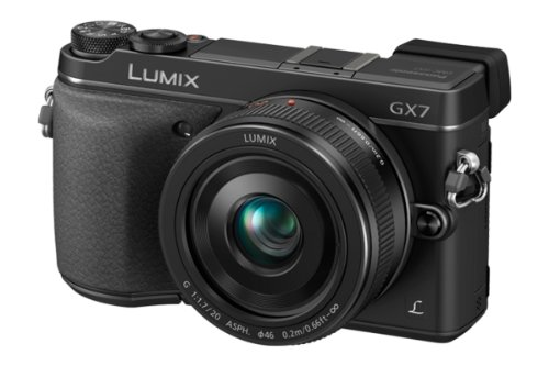 Panasonic LUMIX GX7 16.0 MP DSLM Camera with LUMIX G 20mm F1.7 II ASPH...