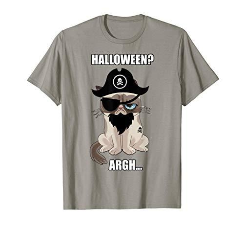 Grumpy Cat Halloween Argh Pirate Costume Graphic T-Shirt