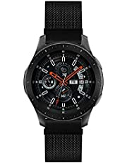 Morsey Compatible with Samsung Galaxy Watch 46mm/Gear S3 Frontier/Classic Band, 22mm Stainless Steel Strap Replacement for Ticwatch Pro/Samsung Galaxy Watch 46mm Smartwatch