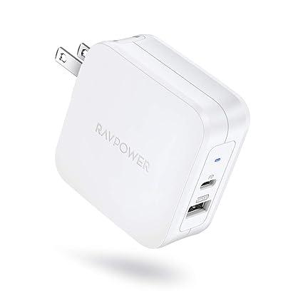 Amazon.com: RAVPower - Cargador USB C de 61 W tipo C PD 3.0 ...
