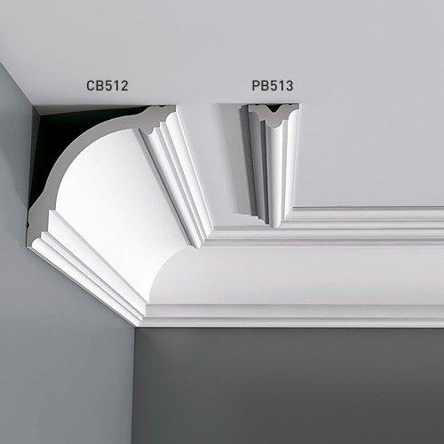 2 Meter Stuckleiste Orac Decor PB513 BASIXX Wandleiste Friesleiste Zierleiste Decken Wand Rahmen Element