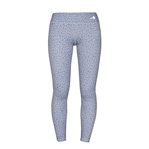 Women's Compression Capri's (Silver Ferns - L) - Body Slimming for Yoga, Hidden Pocket, Amazing Workout Pants
