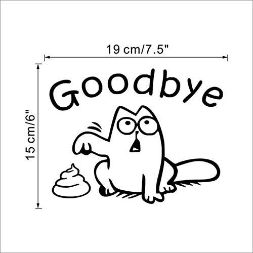Best Quality Cute Black cat say Goodbye Toilet Wall Decals Bathroom Window car Tank Home Decor Cartoon Animal Stickers Vinyl Mural Art