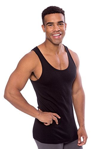 aa5d78576 Men's Ribbed Tank Top - Single Pack Undershirt in Bamboo Viscose by Texere