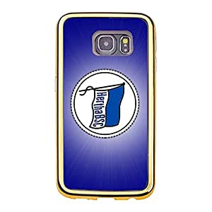 Bundesliga Hertha Berliner Sport Club Berlin Phone Case Simple Fashion Gold Frame TPU Soft Hertha BSC Logo Phone Case for Samsung Galaxy S6 Edge