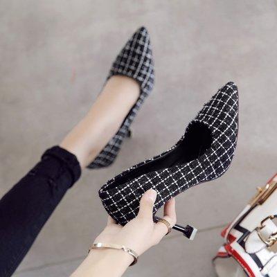 Xue Qiqi Qiqi Qiqi Tipp feine mit High Heels Schuhe mit einem hellen Schuhe 34 butt weiblich schwarz und weiß Format 9 cm e9e3f5