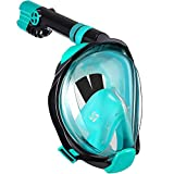 WSTOO Full Face Snorkel Mask-Advanced Safety Breathing System Allows You to Breathe More Fresh Air While Snorkeling,180 Panoramic...
