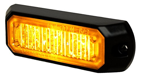 Light Strobe Auxiliary Mini - HELLA H22891001 MS3 Mini LED Lighthead, 12/24 VDC, 12 Flashing Patterns, Amber