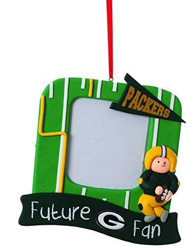 NFL Green Bay Packers Field Future Fan Picture Frame Christmas Ornament, Small, Multicolored