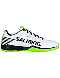 Salming Mens Viper 5 Lace Up Sports Court Indoor Badminton Squash Trainers White