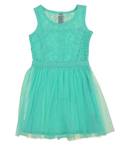 Kids Denim Girls Guess - Guess Jeans Kids Girls Patterned, Denim, and Lace Dresses (12, Aqua)