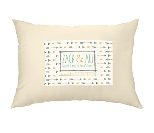 Zack & Ali Toddler Pillow, Soft 100% Organic Cotton, 13 x 18, Made in USA