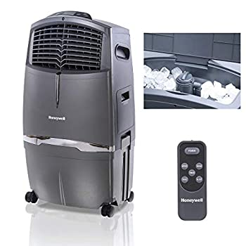 Image of Honeywell 525-729CFM Portable Evaporative Cooler, Fan & Humidifier with Ice Compartment & Remote, CL30XC, Gray
