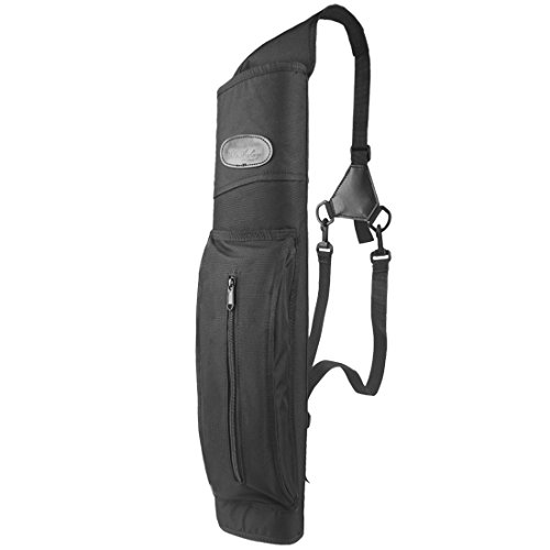 Kratarc Archery Back Arrow Quiver with Shoulder Hanged Target Shooting Quiver for Arrows (Black)