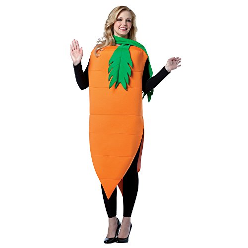Bunny And Carrot Costume (Adult Carrot Costume - One Size Adult (Does not include Plus Sizes))