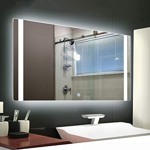 Rectangular Frameless Illuminated Led Backlit Bathroom Mirror with Adjustable Brightness Led Light - Bathroom Shaver Socket Backlit With Mirrors