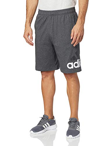 adidas Men's Athletics Jersey Shorts, Dark Grey