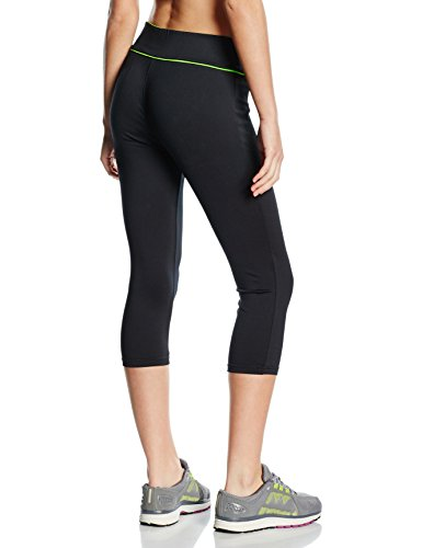 Musclepharm MPLPNT427 LADIES MUSCLE PHARM PRINTED CAPRI PANT BLACK/LIME X SMALL - Mujeres De Capri Pant - Negro / Lima, X-Small