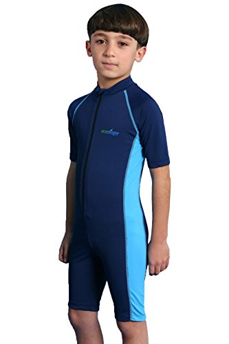 Boys Sun Protection Swimwear Sunsuit 2 Navy Blue