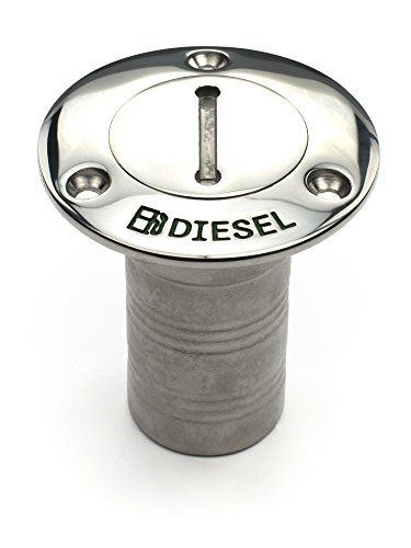 Deck Fill Key (Whitecap Industries Stainless Steel Hose Deck Fill with Key for Diesel, 1-1/2-Inch)