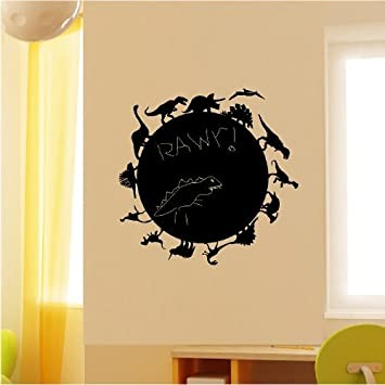 Amazon.com: Dinosaur Chalkboard wall saying vinyl lettering home ...