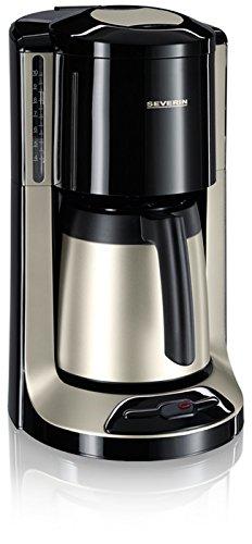 Severin 4160 - Cafetera de goteo (isotérmica, 1000 W, 1 L), color negro/plateado