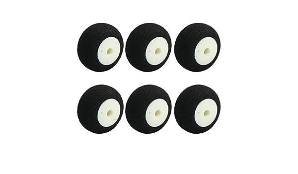 6pcs RC Aviones Super Light esponja Neumático Rueda de cola D16mm H10mm d2.5mm - - Amazon.com