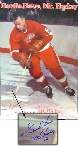 eb04ac069d4 Gordie Howe Detroit Red Wings Autographed 22X34 Mr Hockey Poster - Signed  Hockey Pictures