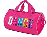 Fuchsia Dance Duffel Bag with Multicolored Dance Print