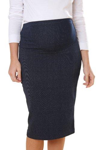 Meme Denim Style Skirt (Large, Black Denim)