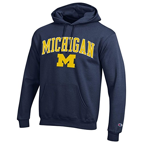 Elite Fan Shop Michigan Wolverines Hoodie Sweatshirt Varsity Navy - XX-Large - Navy Yellow