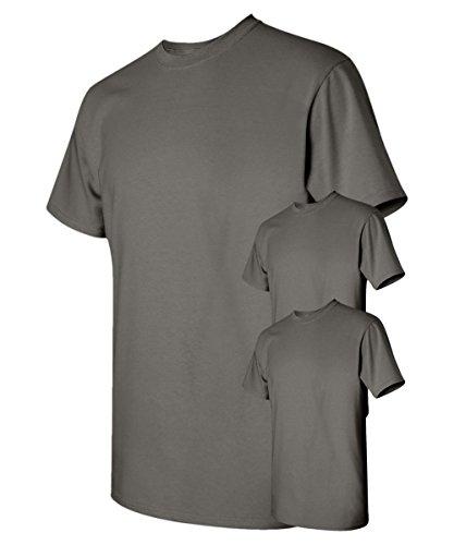 Gildan mens Heavy Cotton 5.3 oz. T-Shirt(G500)-CHARCOAL-XL-3PK