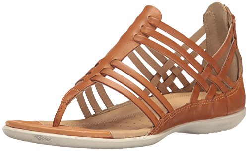 ECCO Women's Women's Flash Lattice T-Strap Huarache Sandal, Lion, 41 EU/10-10.5 M (Ecco Flash)