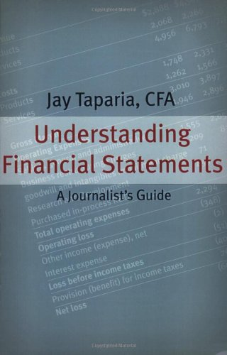 Understanding Financial Statements: A Journalist's Guide by Marion Street Press, LLC