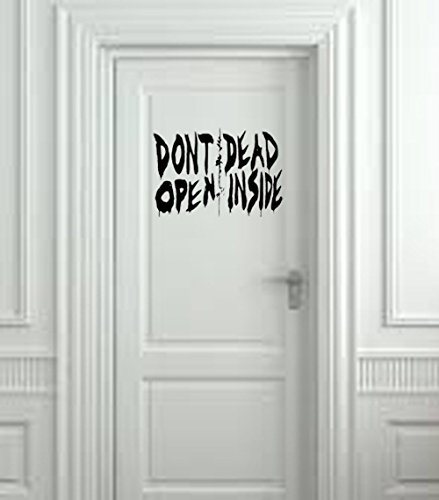 Don't Open Dead Inside Wall Decal (Red, 20