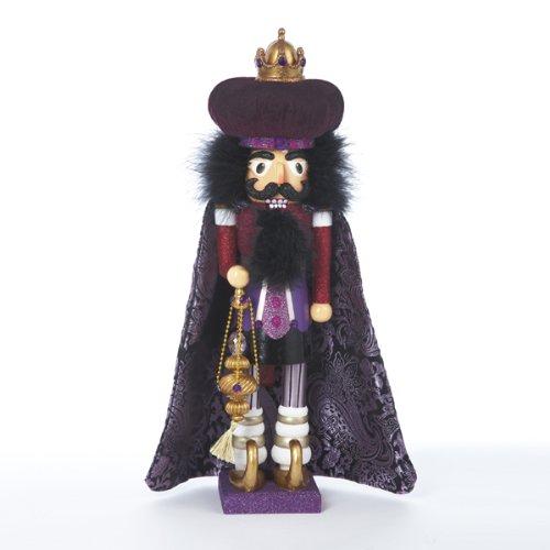 Hollywood Nutcrackers Kurt Adler Hollywood King Nutcracker, 18-Inch, Purple (Tall Caroler Figure)